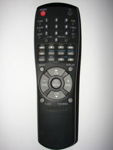 Samsung TV VCR Remote Control 00141A S01.1.2.3.4.5.6.7.8.9.A.B.C frontal view