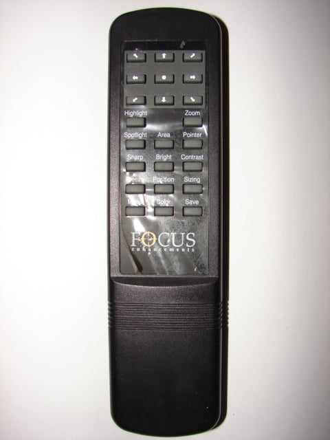 frontal view of Focus Enhancements Remote Control