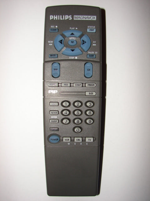 Philips Magnavox TV VCR Cable Remote Control 00Y147KB-AA01 UR614 top image