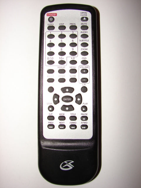 top view GPX Model D1816 DVD Player Remote Control