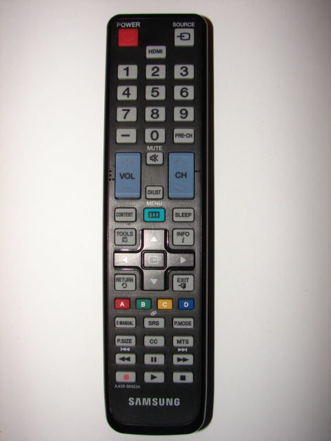 AA59-00463A Samsung Flatscreen TV Remote Control KIE-110304 frontal view