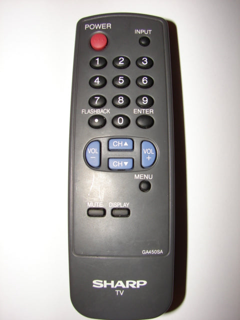 frontal view of GA450SA Sharp TV Remote Control