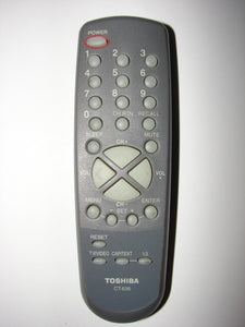 CT-836 Toshiba TV Remote Control top view image