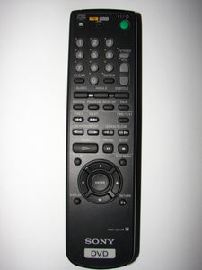 front picture of RMT-D117A Sony DVD Player Remote Control