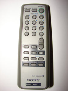 RMT-CS400A SONY Radio Casette Remote Control top photograph
