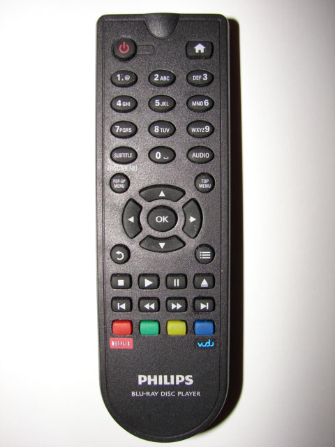 Philips Bluray Disc Player Remote Control w/ netflix & Vudu buttons TZH-049 top image
