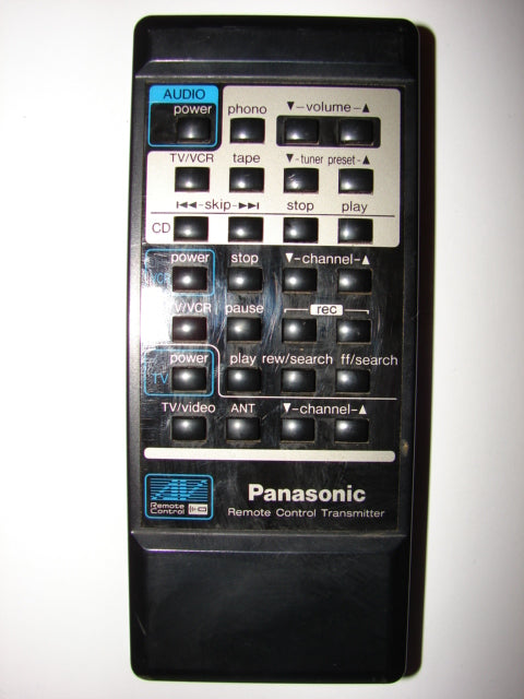 EUR64569 Panasonic Audio Receiver TV VCR CD Remote Control front view image