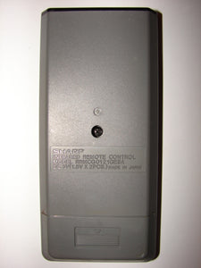 RRMCG0121GESA Sharp VCR Remote Control UM-4(AAA.R03) bottom of unit
