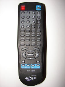 RM-1200 Apex Digital DVD Player Remote Control JUL8 080 083-3 J3-2 frontal image
