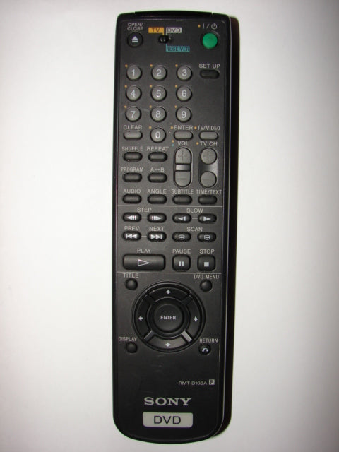 RMT-D108A Sony DVD Player Remote Control top photo