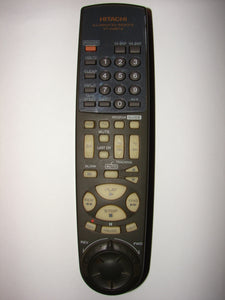 VT-RM627A Hitachi TV VCR Remote Control 7266 HITM001BD 1 frontal view