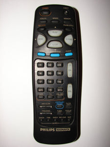 N9321UD Philips Magnavox TV VCR Remote Control bird's eye view