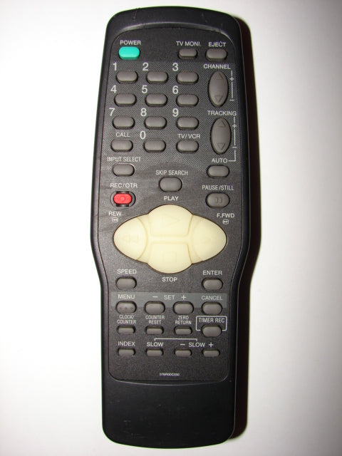 076R0DC050 VCR TV Remote Control >PS< 25-1666 F1D top photo