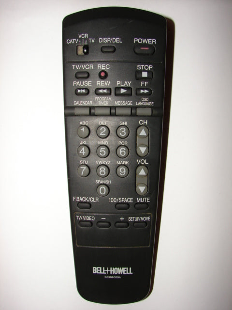 G0996CESA Bell + Howell TV VCR Remote Control front image