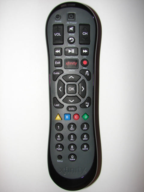 XR2 Version U2 Xfinity Cable TV Remote Control top image