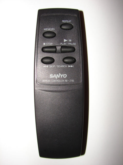 RB-Z110 CD Player Sanyo Remote Control front image