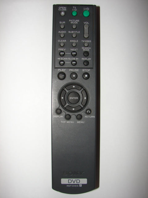 RMT-D141A Sony DVD Player Remote Control top photo
