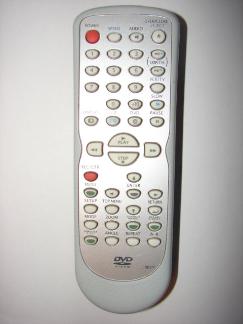 NB177 DVD Player Video Remote Control front