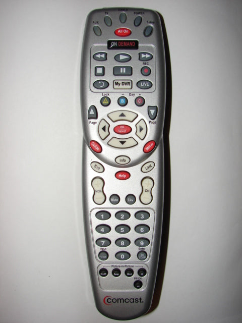 Comcast Cable TV DVR Remote Control G074302 1067BG3-0001-R