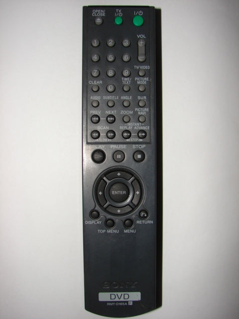 Sony RMT-D165A DVD Player Remote Control front