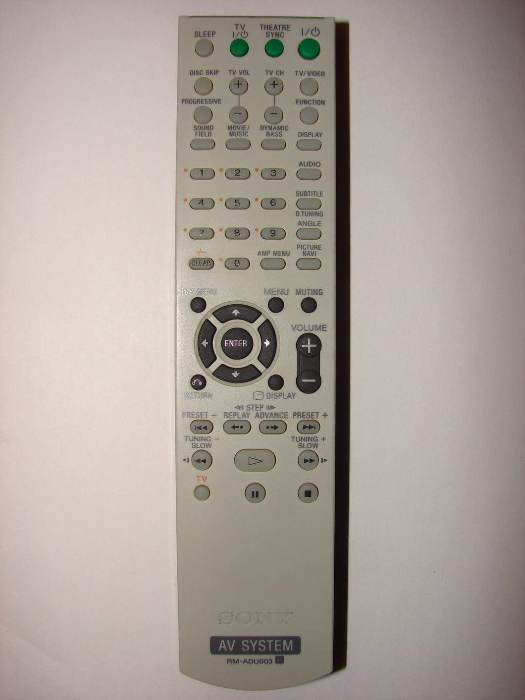 RM-ADU003 Sony Remote Control for AV System front image