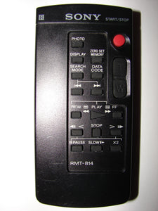 RMT-814 Sony Remote Control for Video Camera / Camcorder front view