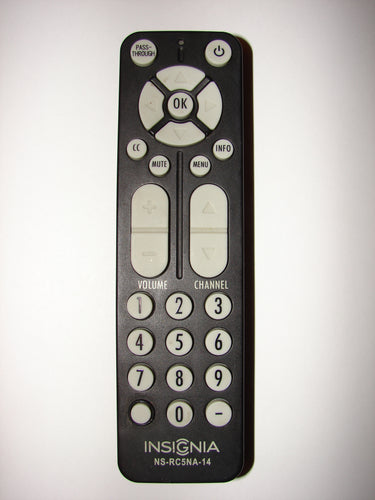 front image of Insignia NS-RC5NA-14 TV Remote Control