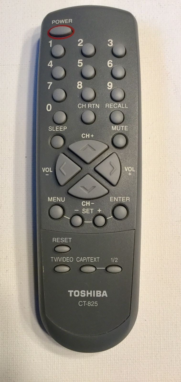 CT-825 Toshiba TV Remote Control front