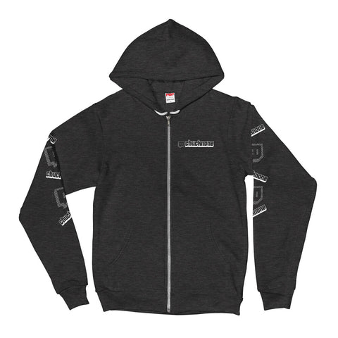 Chuck None Twitch Zip-up hoodie