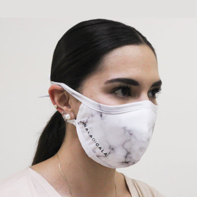 MARBLE PRINT FACE MASK