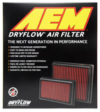 AEM 08 Hyundai Genesis Coupe 2.0L/3.8L L4/V6 10.5in O/S L x 8.75in O/S W x 2.219in H DryFlow Filter
