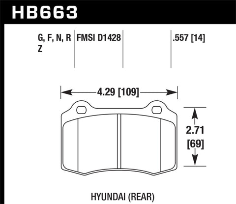 Hawk 12-15 Tesla Model S HPS 5.0 Rear Brake Pads