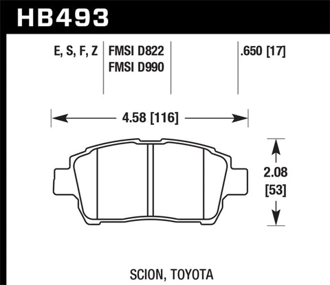 Hawk 04-07 xA/xB D990 Blue 9012 Race Front Brake Pads