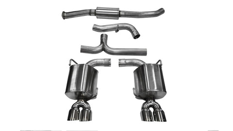 Corsa 11-13 Subaru Impreza Sedan STI 2.5L Turbo Manual Polished Sport Cat-Back Exhaust