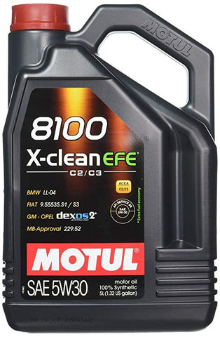 Motul 8100 X-Clean EFE 5W30 Oil Change Package SPECIAL WRX & STI