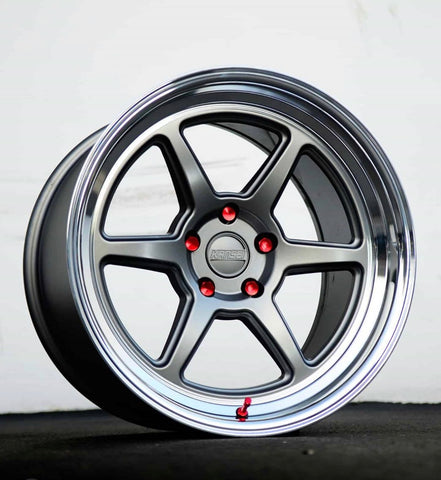 Kansei Wheels Roku Formlite Matte Grey Machine Lip