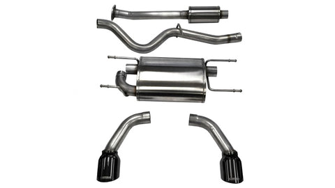 Corsa 12-14 Scion FRS / Subaru BRZ Black Tip Sport Cat-Back Exhaust