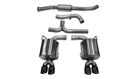 Corsa 11-13 Subaru Impreza Sedan STI 2.5L Turbo Manual Black Sport Cat-Back Exhaust