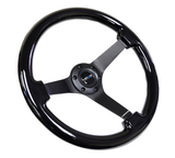 NRG Classic Dark Black Grain 350mm Wheel