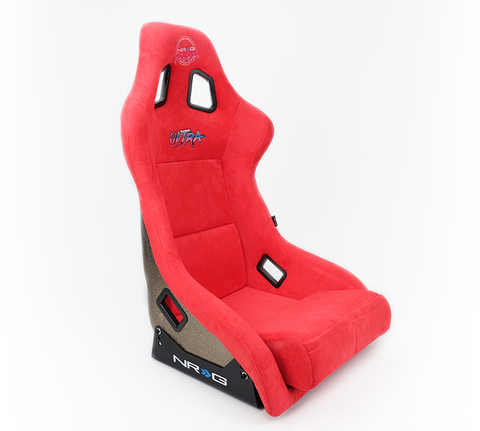NRG Prisma Ultra Bucket Seat Red (Large)