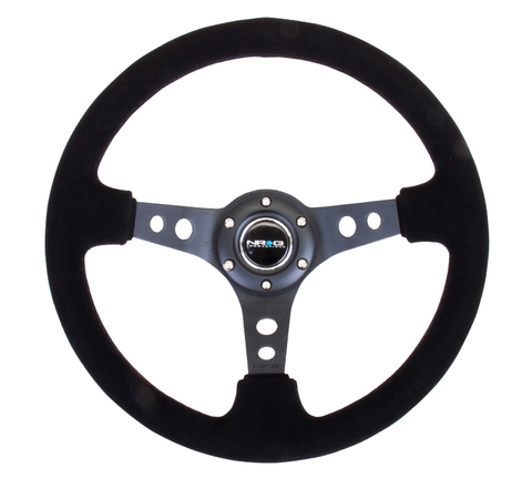 NRG Deep Dish Series Black Suede 350mm Wheel