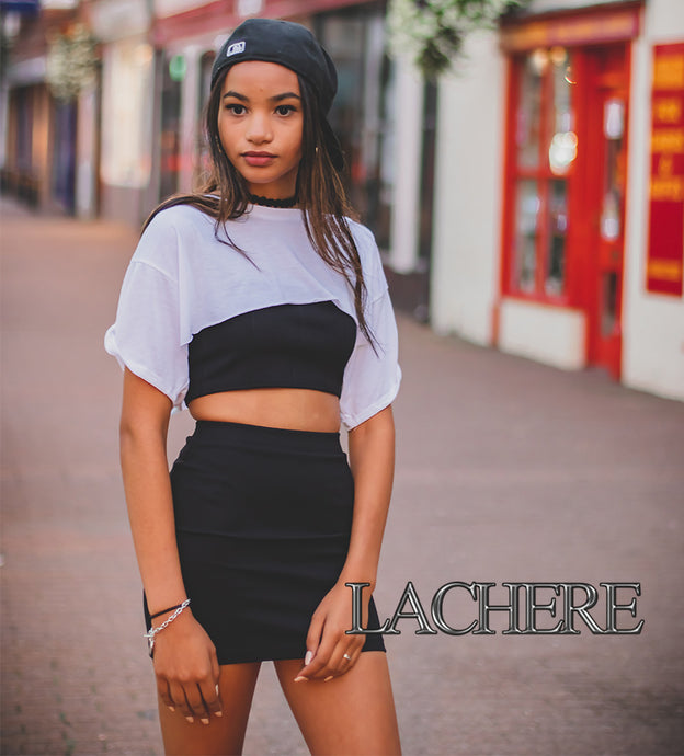 LACHERE Black Mini Skirt