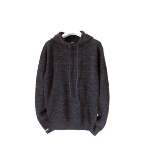 LACHERE Black Knitted Hoodie