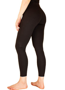 LACHERE Women's Black Leggings, Size 6 8 10