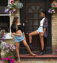 LACHERE Denim Shorts