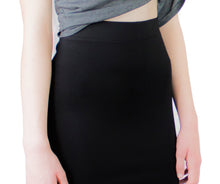 LACHERE Black Tube Skirt | Stretch | Above the Knee