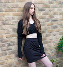 LACHERE Black Pencil Skirt | Above the Knee Length | Stretch | School Uniform | Work Skirt