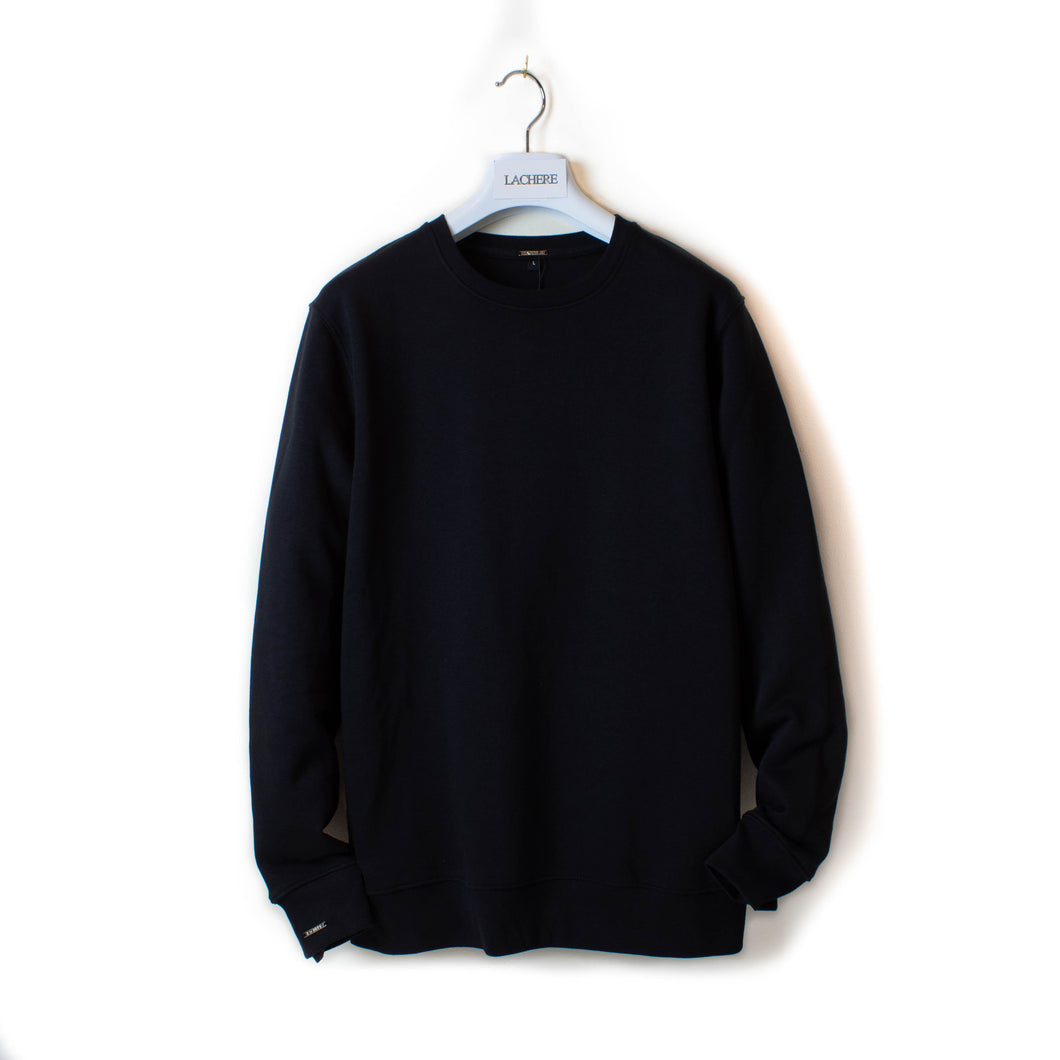 LACHERE Black Basic Sweatshirt Organic Cotton Gender Neutral - LACHERE