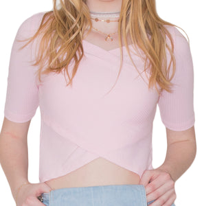 LACHERE Crossover Crop Top - LACHERE