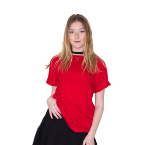 LACHERE Red Crewneck Tee - LACHERE